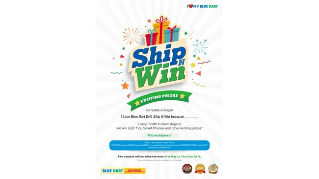 Blue Dart introduces an exciting 'Ship and Win'Offer for customers