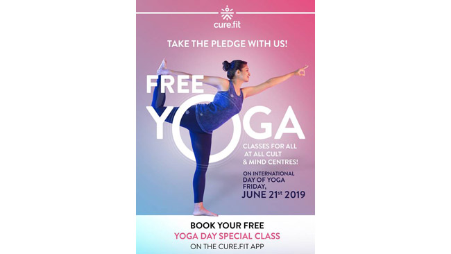 to book your class for free download the cure fit app and book the free yoga day special class at a cult fit or a mind fit centre near you in your city